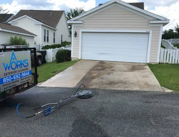 Tallahassee driveway cleaning before
